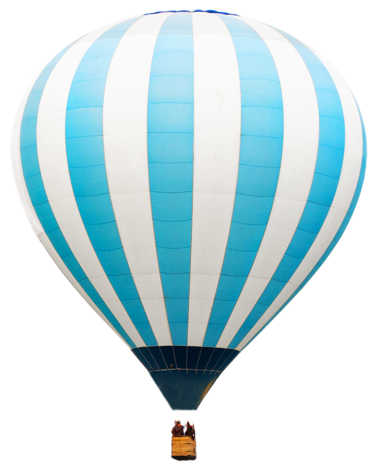 A hot air balloon floating over a cloud